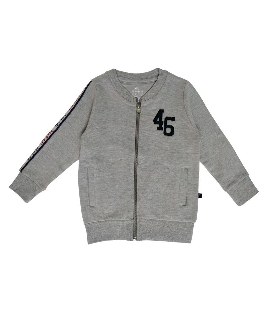 Boy's Front Open Sweatshirt With 46 Applique And Print