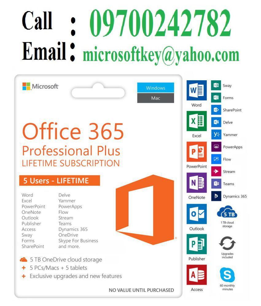 Microsoft Office 365 Professional Plus Genuine Retail ...