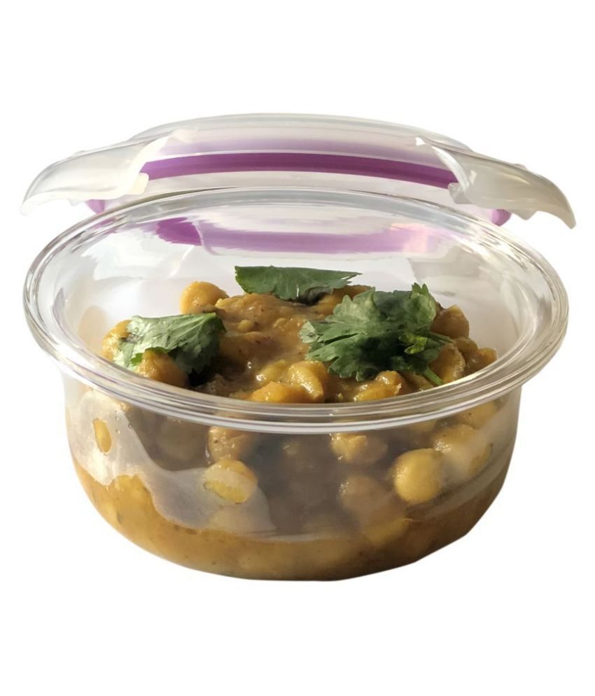 Vertis Purple Glass Lunch Box