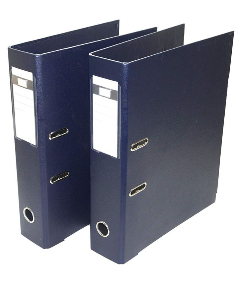 2 Pack Box File, Polymer Elite Executive/Corporate Series Fc Lever Arch File - Dark Blue