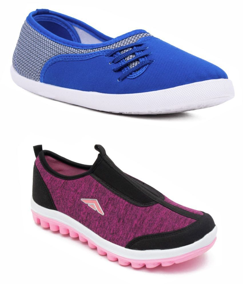 ASIAN Maroon Casual Shoes
