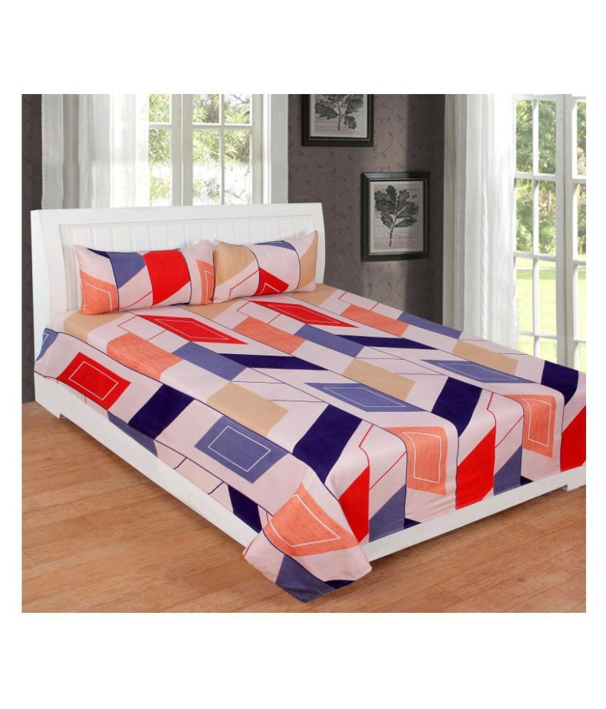 Immaculate Home Microfibre Double Bedsheet with 2 Pillow Covers
