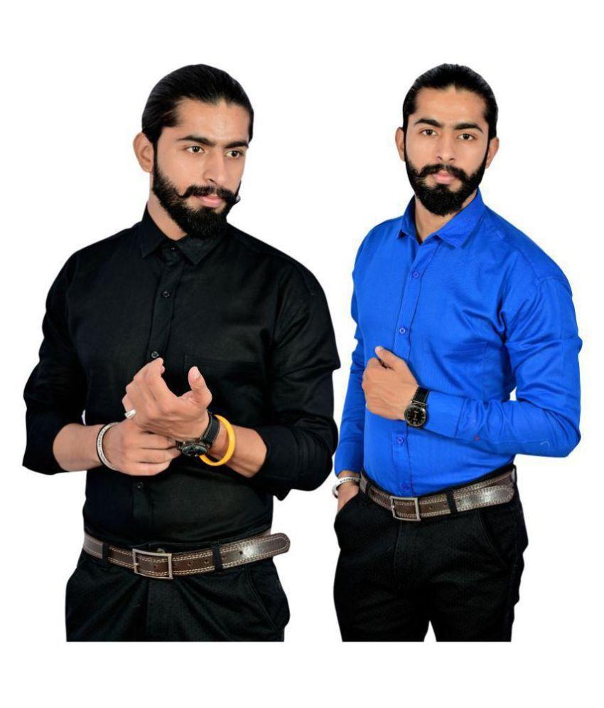 Spykey 100 Percent Cotton Multi Solids Shirt