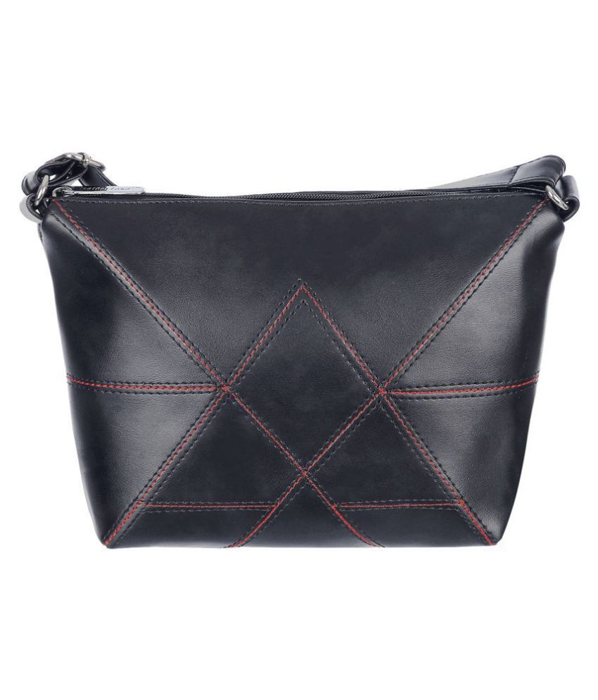 Leather Land Black P.U. Sling Bag