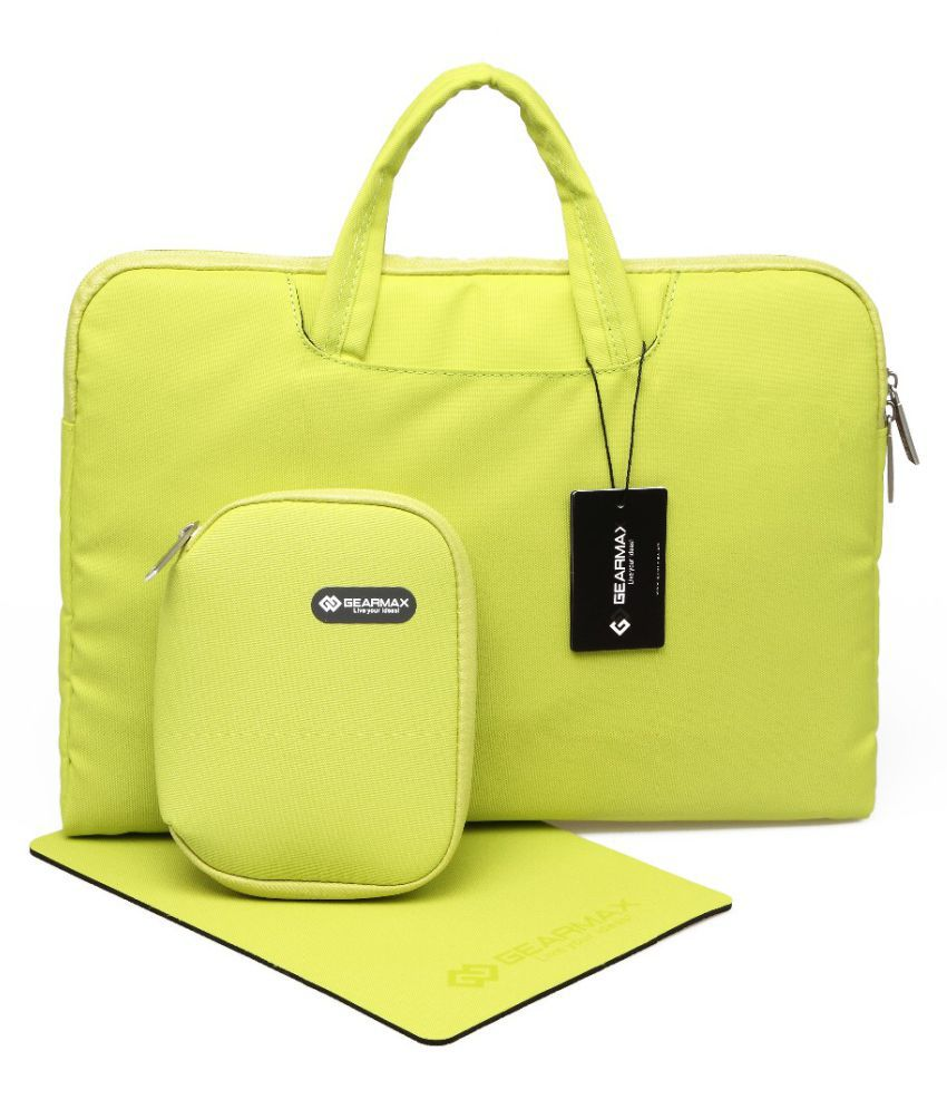 Home Story Green Polyester Office Messenger Bag