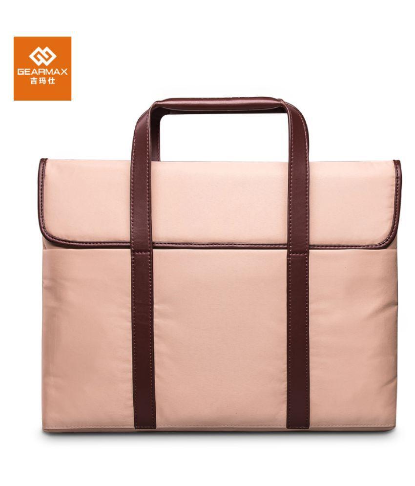 Home Story Khaki Canvas Office Messenger Bag