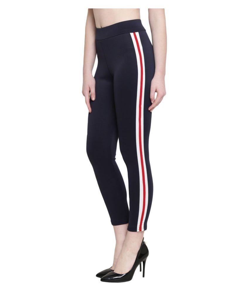 Ds Fashion Polyester Jeggings - Navy