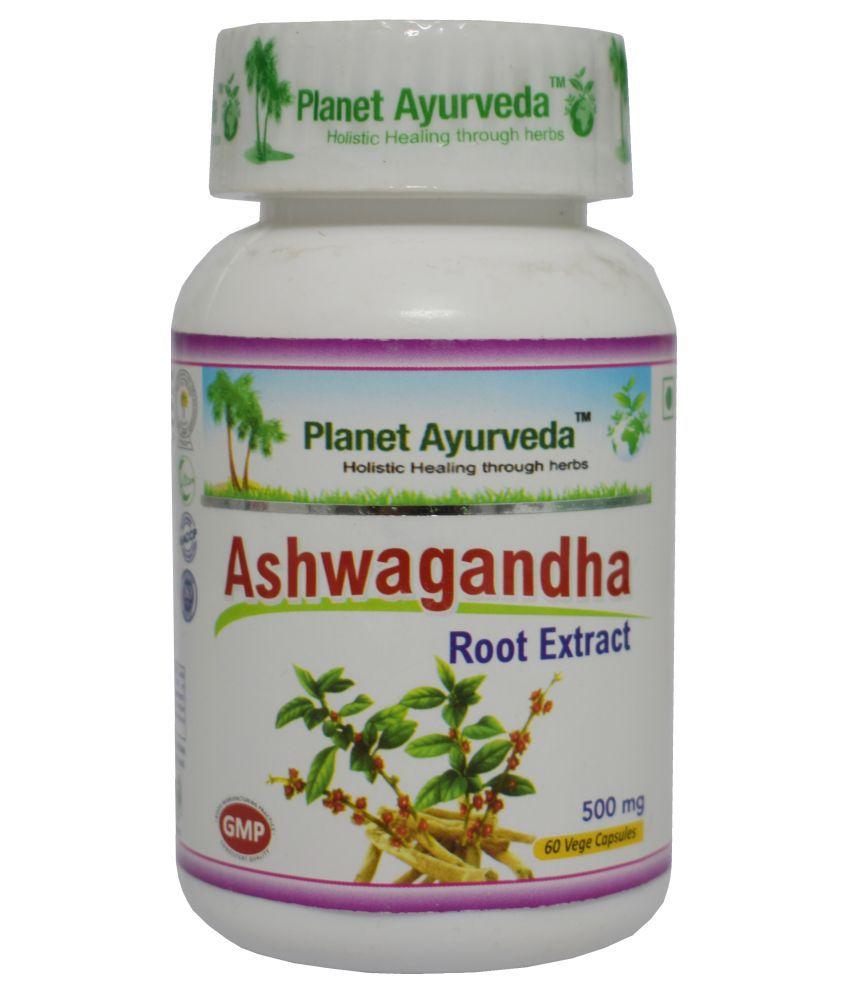 Planet Ayurveda Ashwagandha Capsules Capsule 60 no.s Pack Of 1