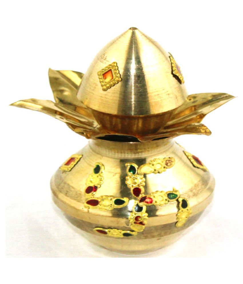 GOLDBIRD BRASS KALASH 5 INCH PACK OF 4 pcs