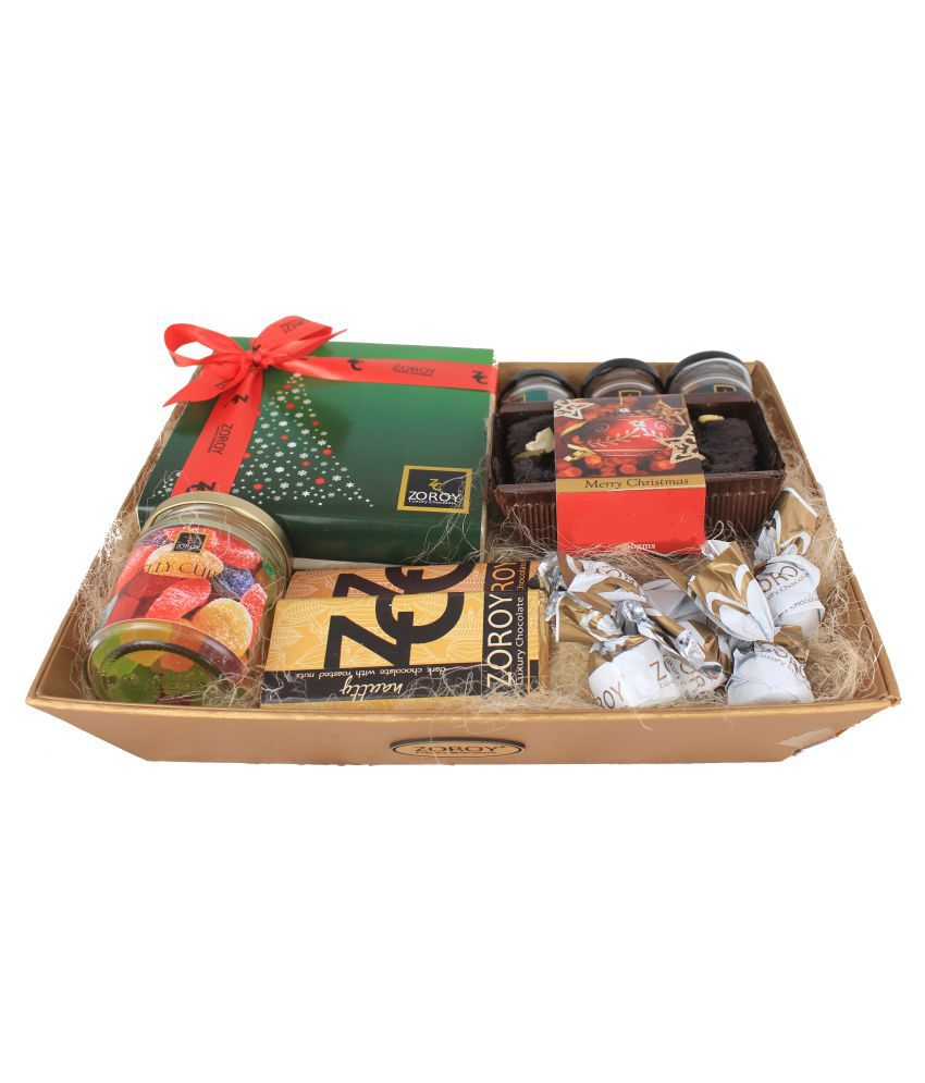 Zoroy Luxury Chocolate Assorted Basket Christmas Sensation Basket  1500 gm