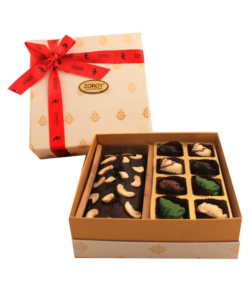 Zoroy Luxury Chocolate Assorted Box Christmas Plum cake and chocolates 430 gm