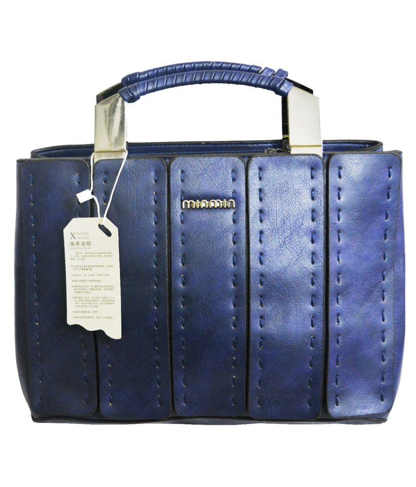 MIN MIN Blue Faux Leather Handheld