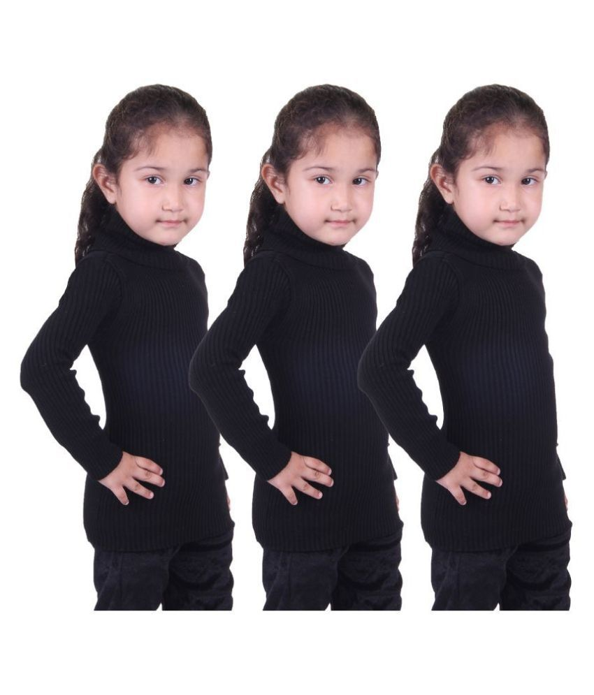 Lienz Striped Turtle Neck Casual  Skivi Sweater for Girls