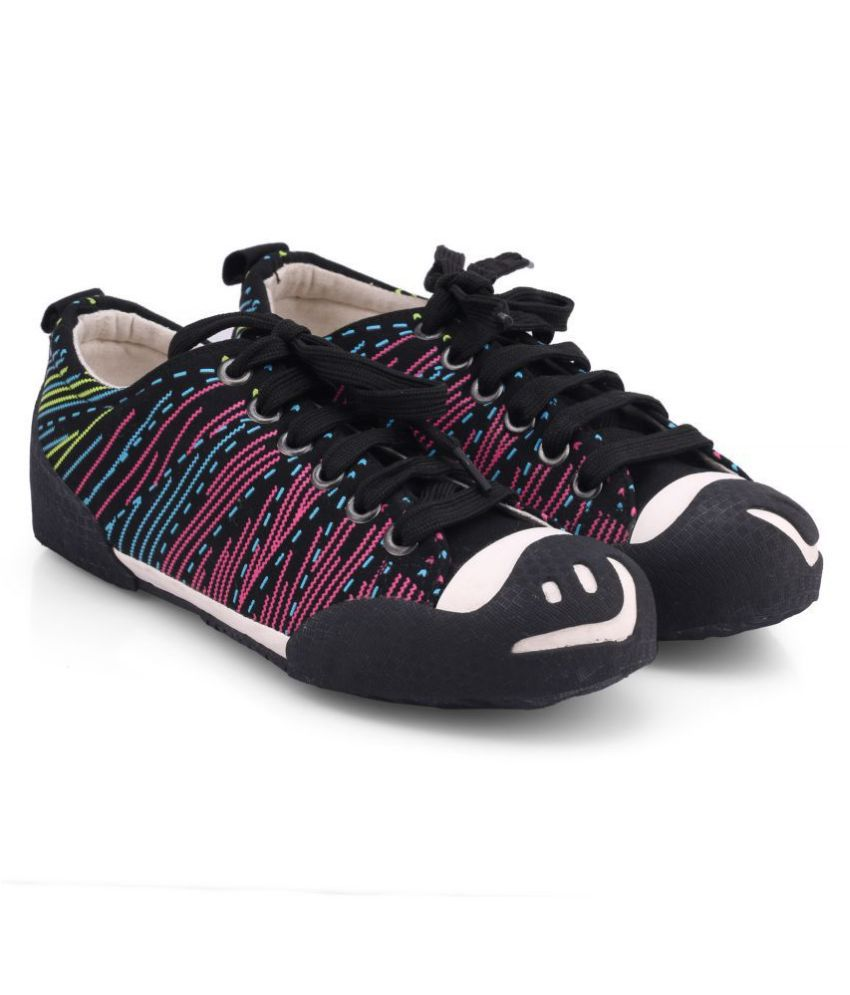 New Stylish Comfort Fashion Unisex Casual Shoes/Skate Shoes/Canvas Shoes/Lace-up Shoes for Big Kids /Girls/Boys.(Black-37)