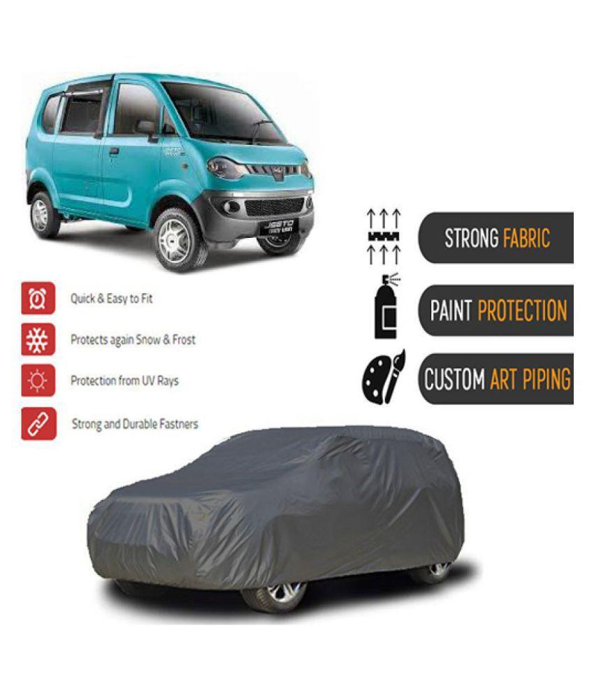 QualityBeast Car Body Cover for  Mahindra Jeeto Grey
