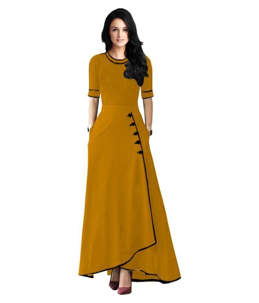 Ritsila Yellow Rayon Jumpsuit