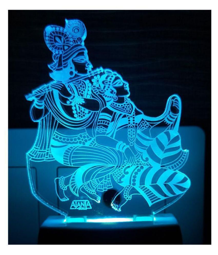Ajanta Radha Krishna Code : 2053 3D Night Lamp Multi - Pack of 1
