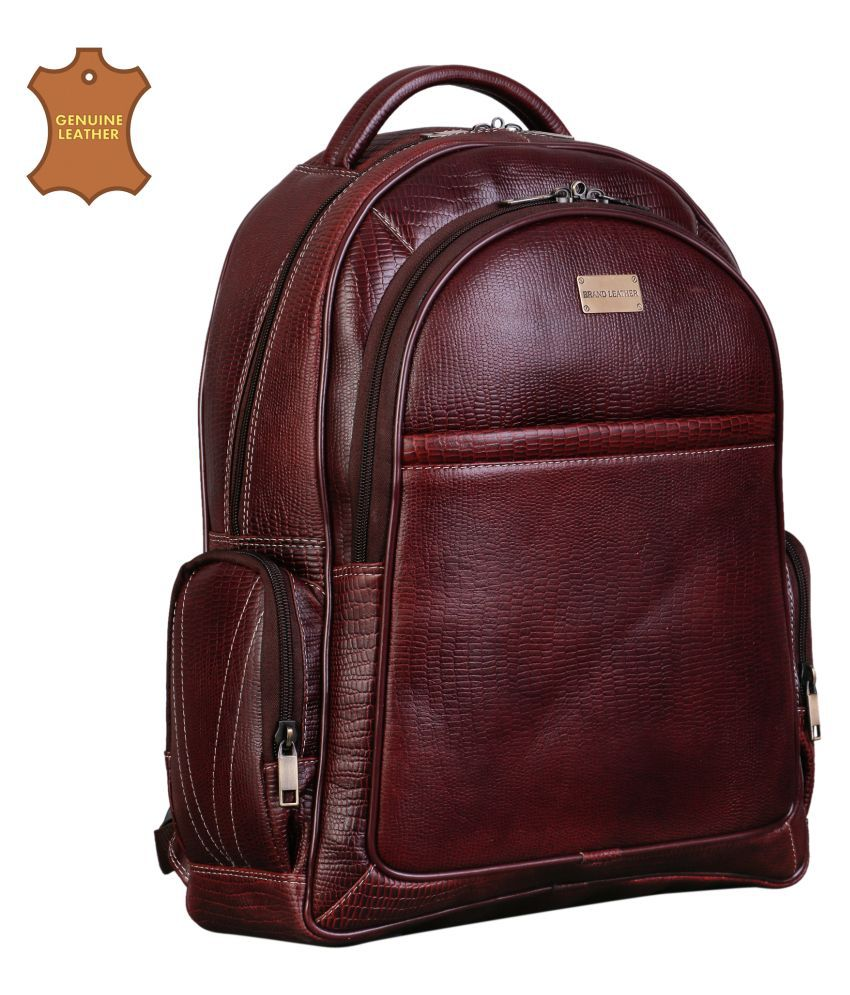 Brand Leather Brown Laptop Bags