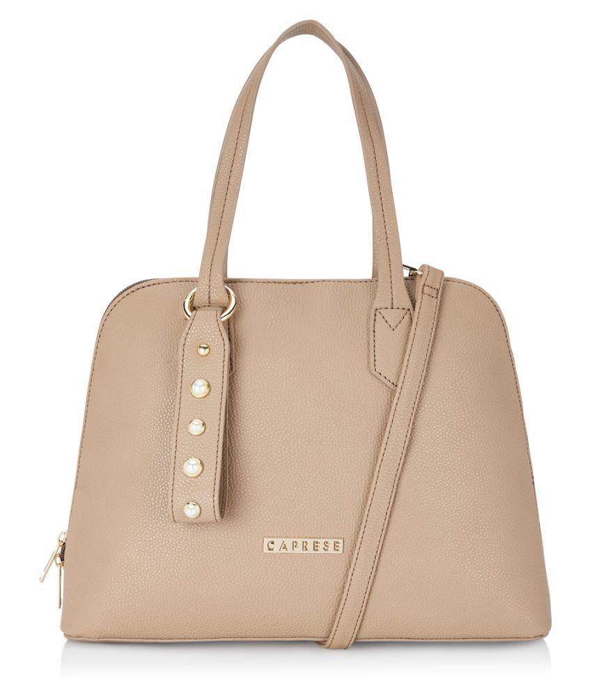 Caprese brown P.U. Satchel Bag