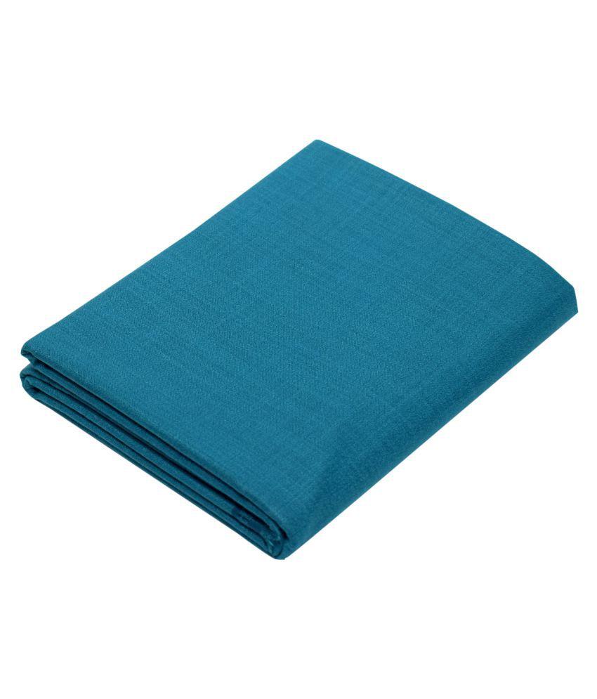 KUNDAN SUZ GWALIOR Turquoise Cotton Blend Unstitched Shirt pc