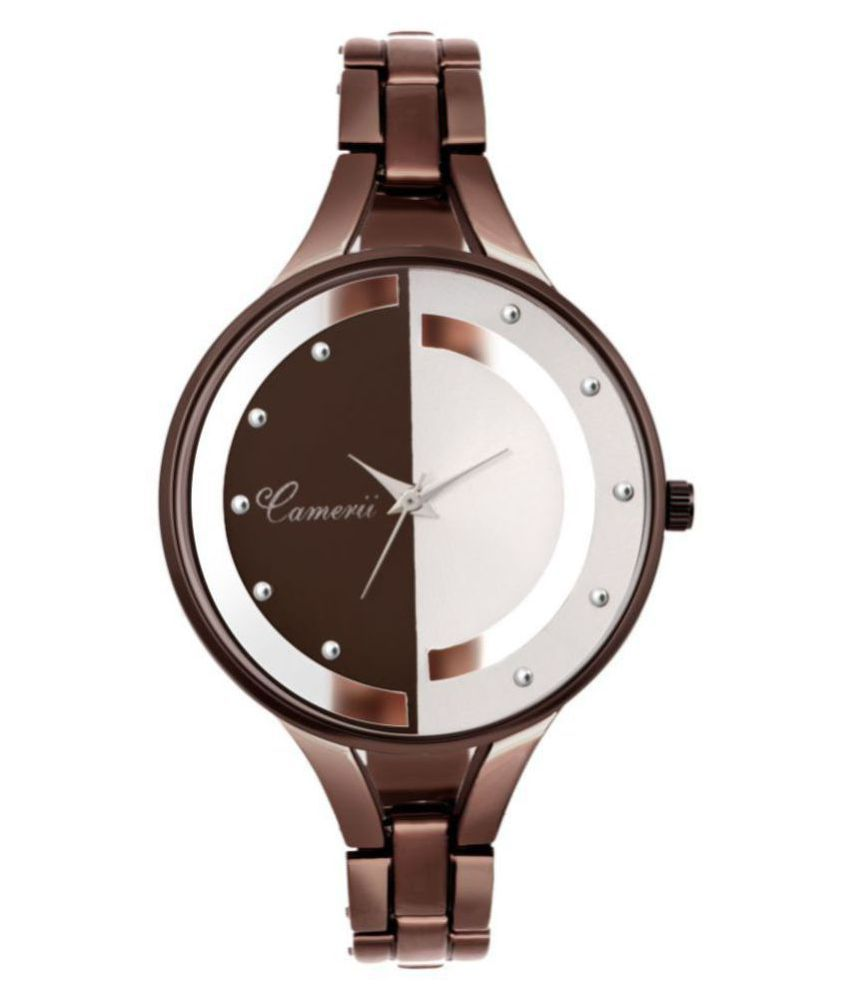 Camerii Stainless Steel Round Womens Watch