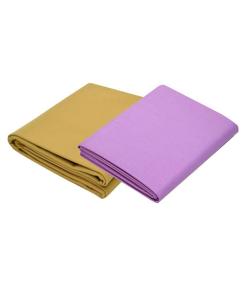KUNDAN SUZ GWALIOR Multi Cotton Blend Unstitched Shirts & Trousers