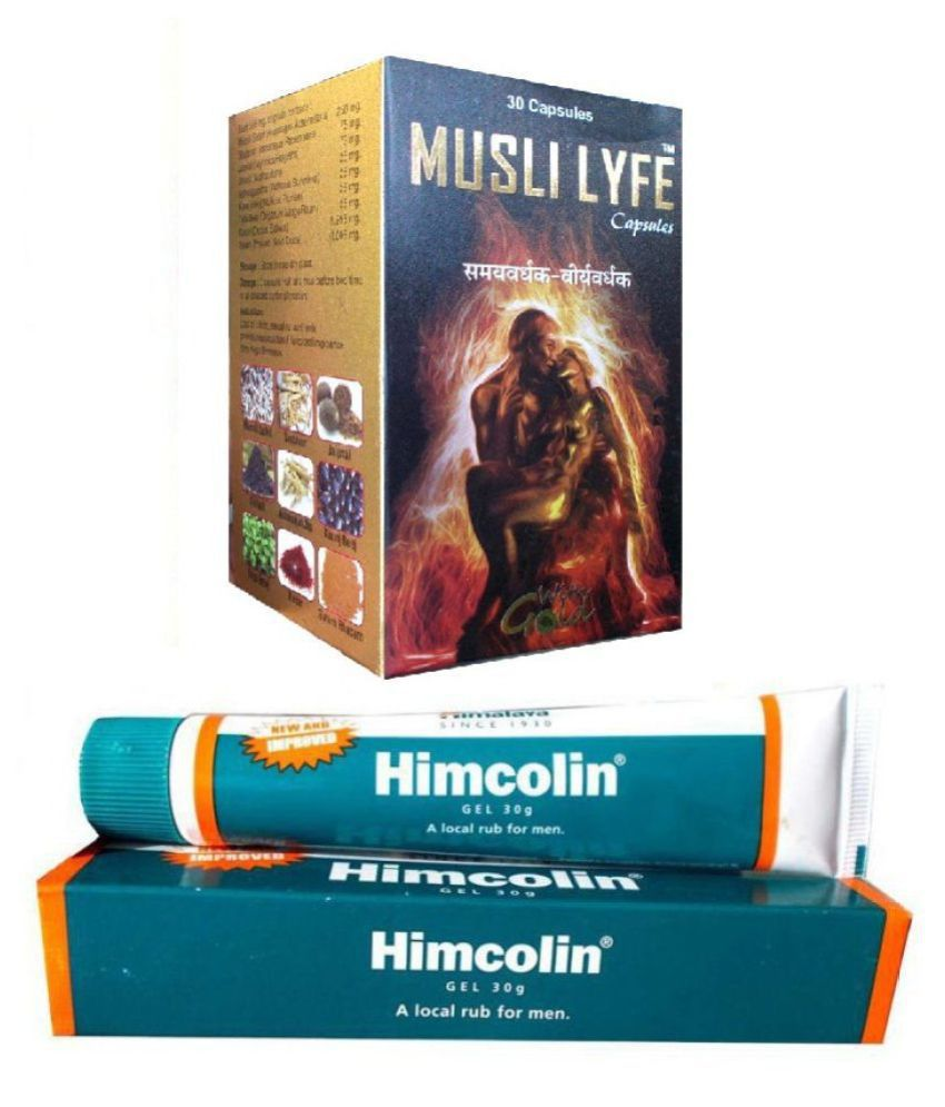 NT Herbs Himalaya Himcolin Gel 30g & Musli Lyfe Capsule 30 no.s