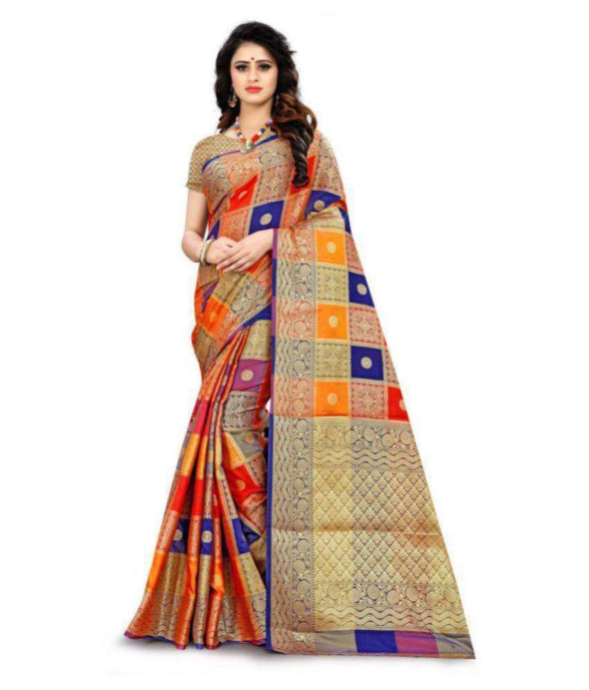 RIVANA Multi Color Silk Saree