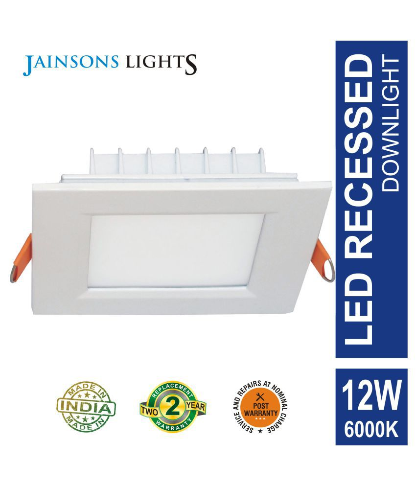 Jainsons Lights 12W Square Ceiling Light 15.3 cms. - Pack of 1