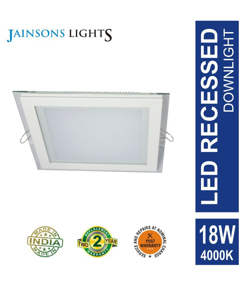 Jainsons Lights 18W Square Ceiling Light 20 cms. - Pack of 1