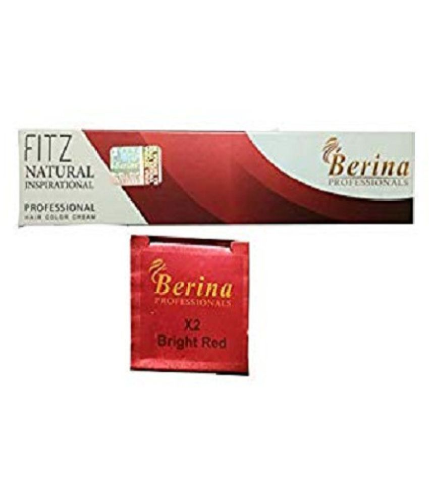 Berina Bright Red Hair color (BER-010) Permanent Hair Color Red 350 g