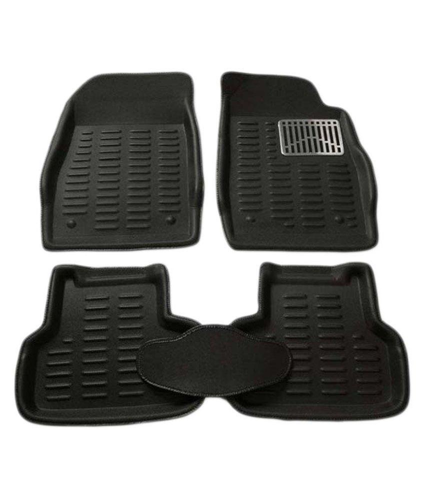 Carizo Perfect Fit Car 3d Floor Foot Mats Black For Maruti Zen Estilo Type 1 2006 2013 Set Of