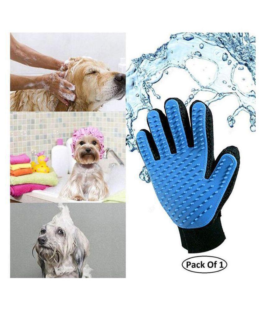HRIDAAN Pet Silicone Shower Glove Animal Massage Hair Removal Dog Cat Grooming Deshedding Bath Glove