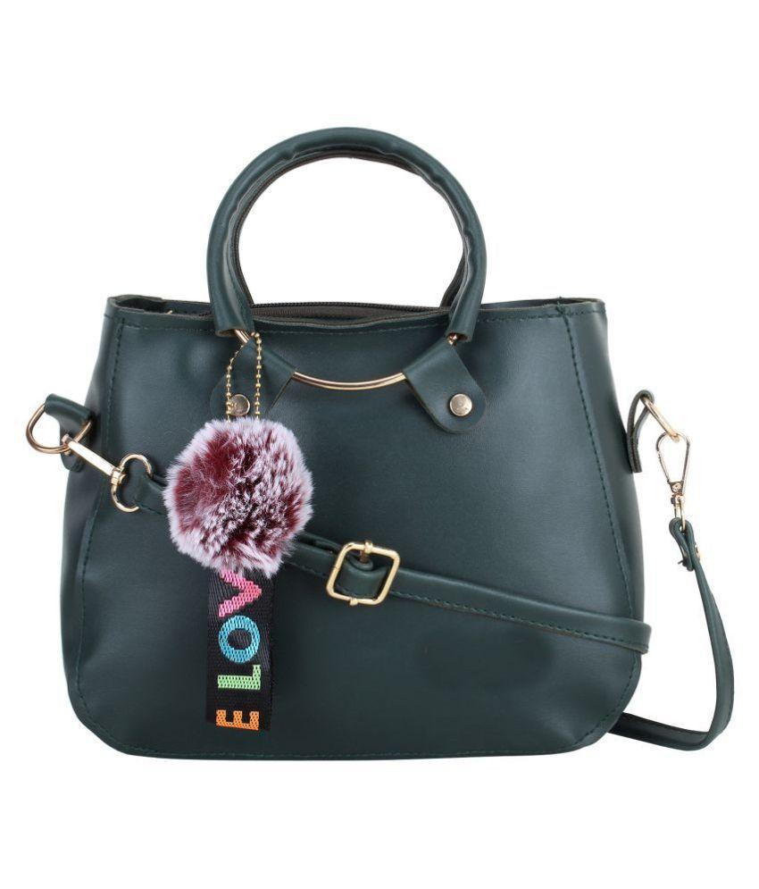Ratan's Green P.U. Sling Bag
