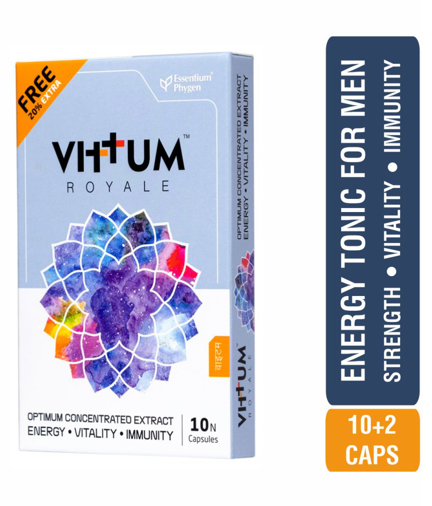 Essentium Phygen Vittum Royale, Energy Tonic for Men, Capsule 12 no.s