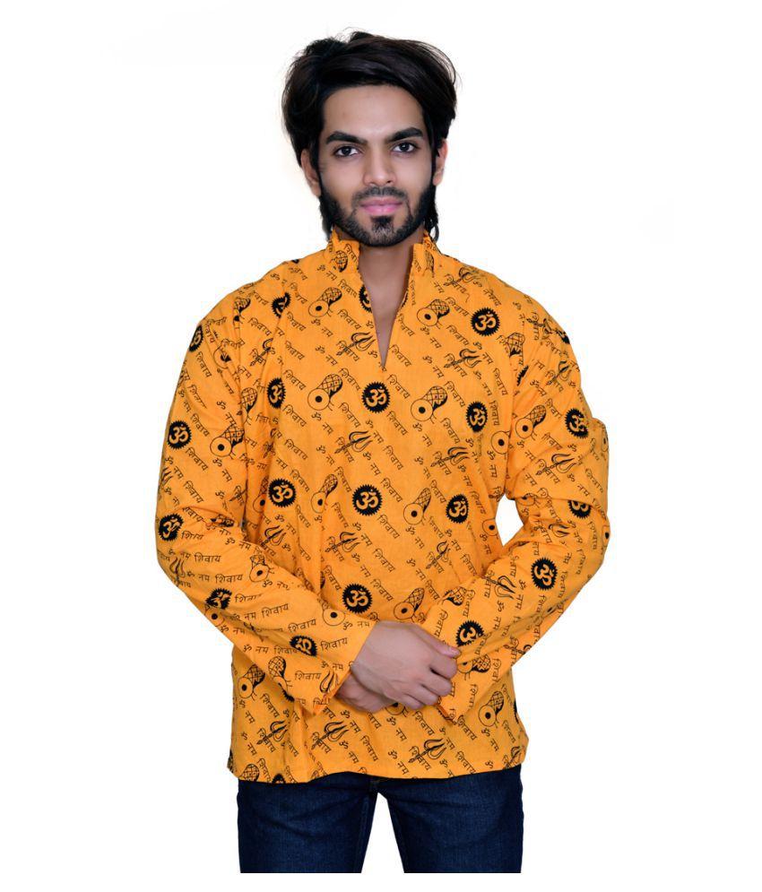 Balaji Garments Yellow Khadi Kurta