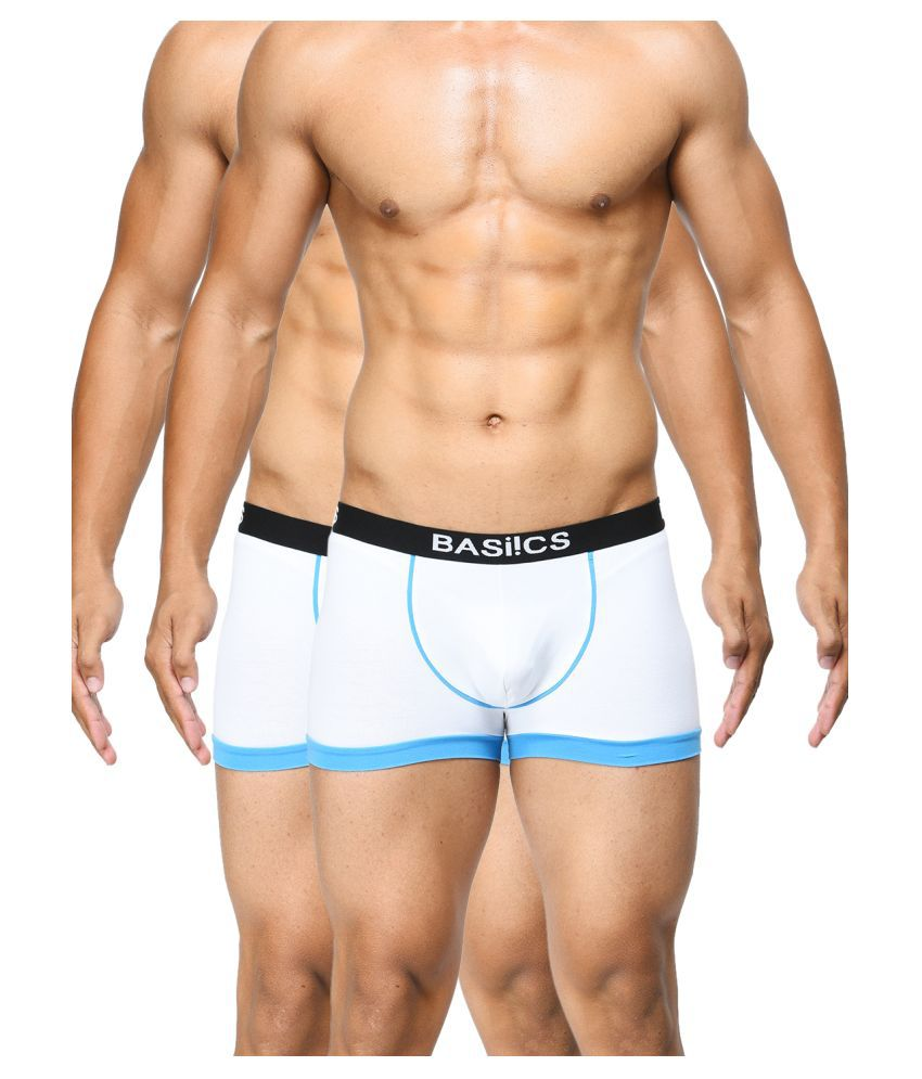 BASIICS By La Intimo White Trunk Pack of 2