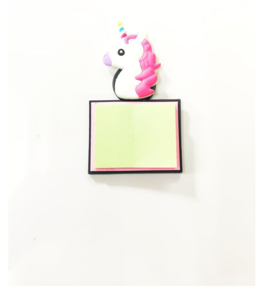 R H lifestyle Unicorn  Mini Sticky Notes Book with Magnet 1 Sheets Regular