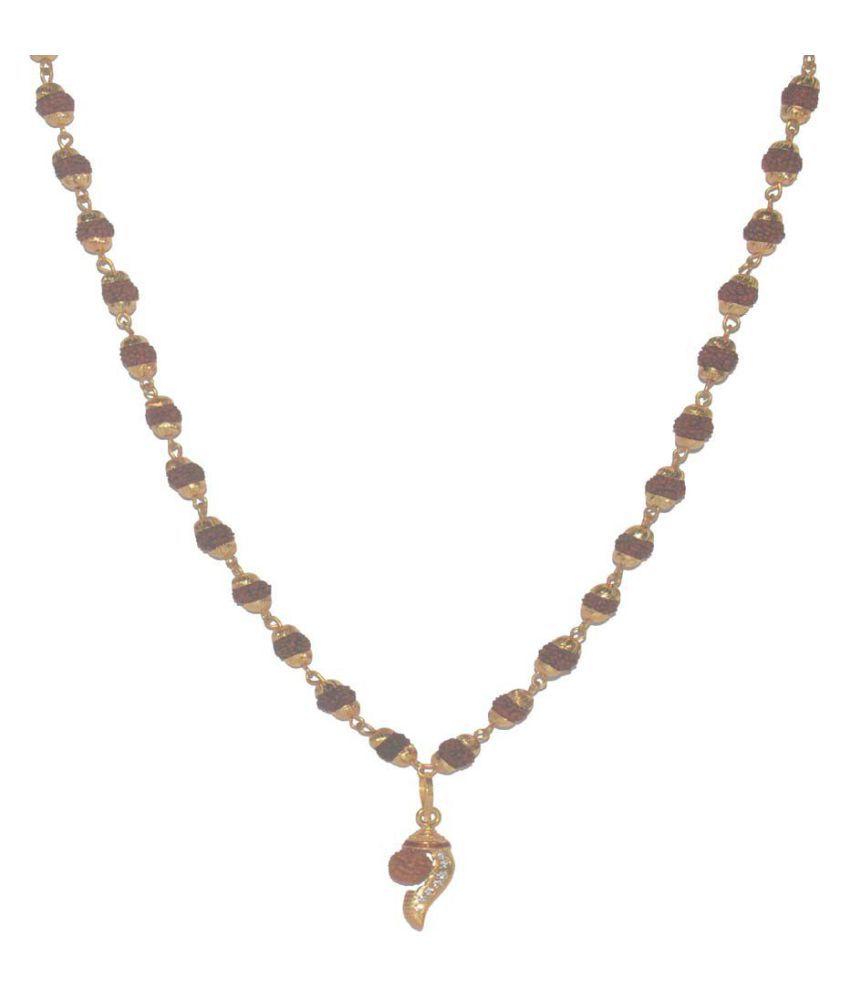 Fabzeel Lord Shiv Rudraksha Mala with Pendant