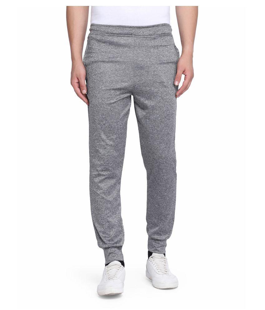 Galatea Grey Polyester Lycra Trackpants