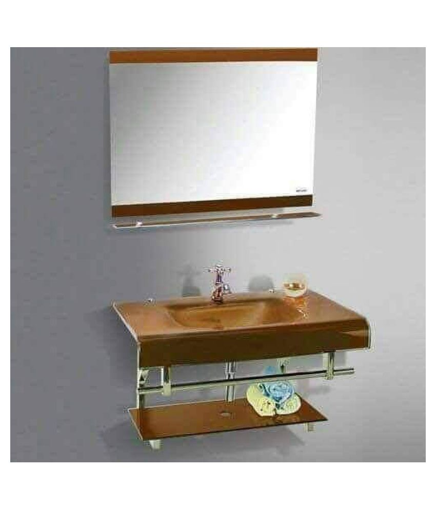 ARVIND SANITARY PVT LTD Multi-Colour Toughened Glass Wall Hung Wash Basins