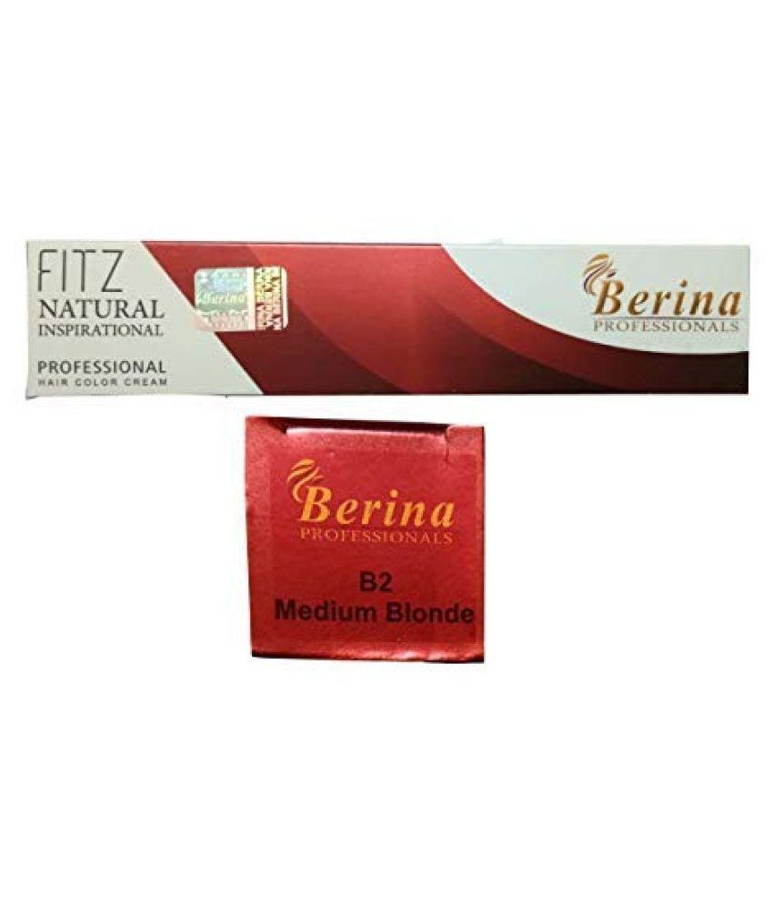 Berina Medium Blonde Hair color (BER-008) Permanent Hair Color Blonde 2 g