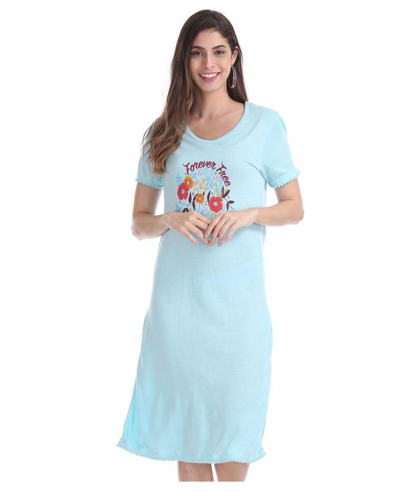 Sugr Cotton Blue Shift Dress