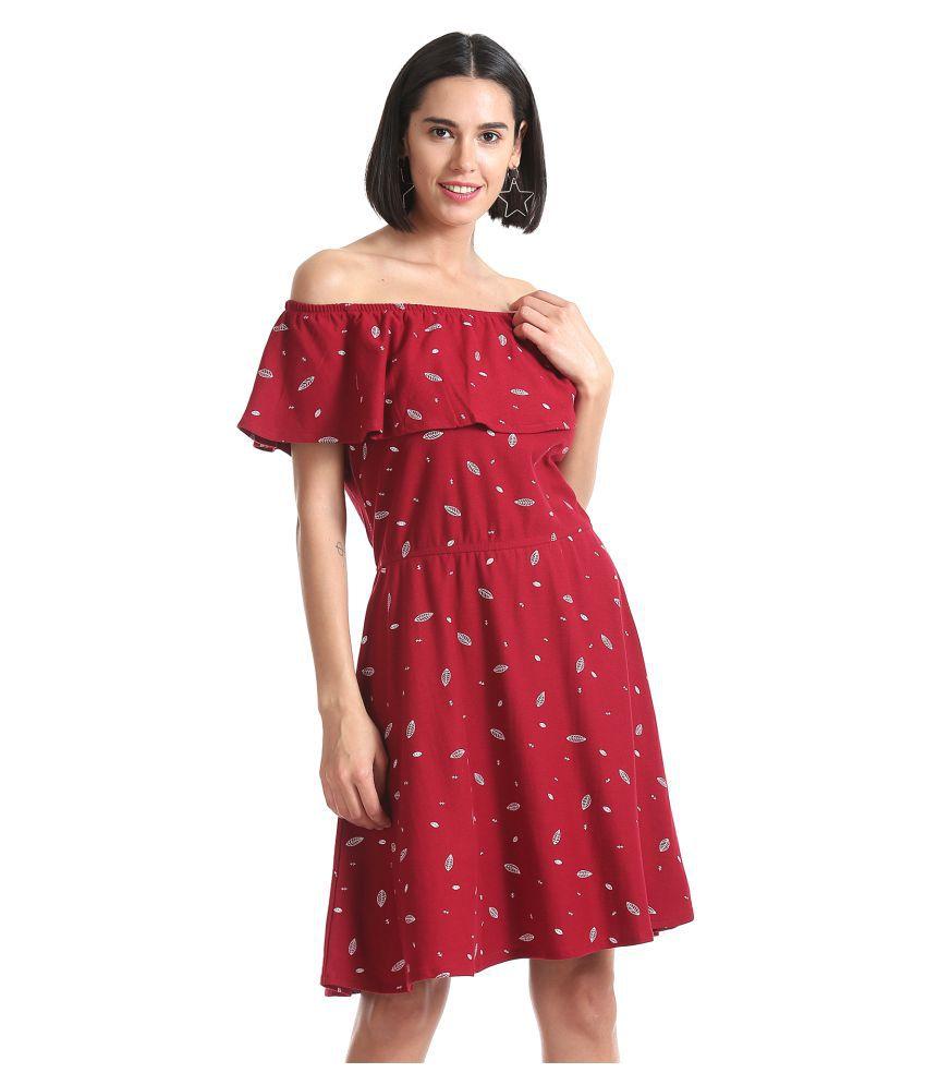 Sugr Cotton Red Off Shoulder