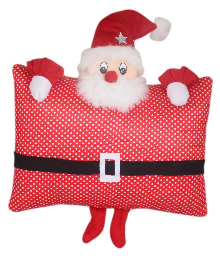Tickles Christmas Soft Santa Pilliow Cushion for Kids Christmas Gift 35 cm