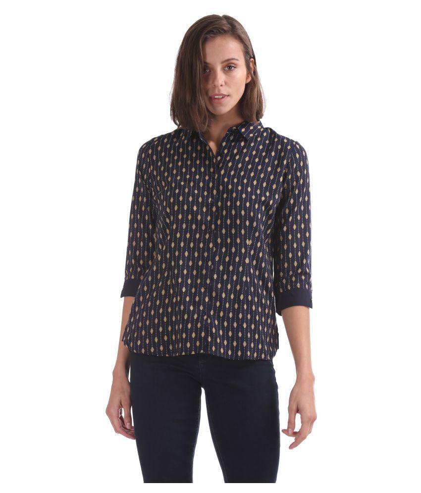Cherokee Blue Polyester Shirt