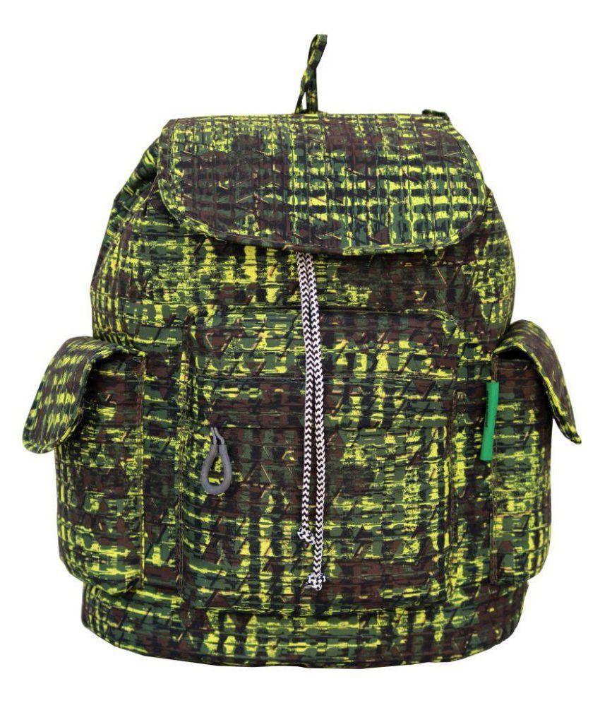 ADDIXON Green Polyster Backpack