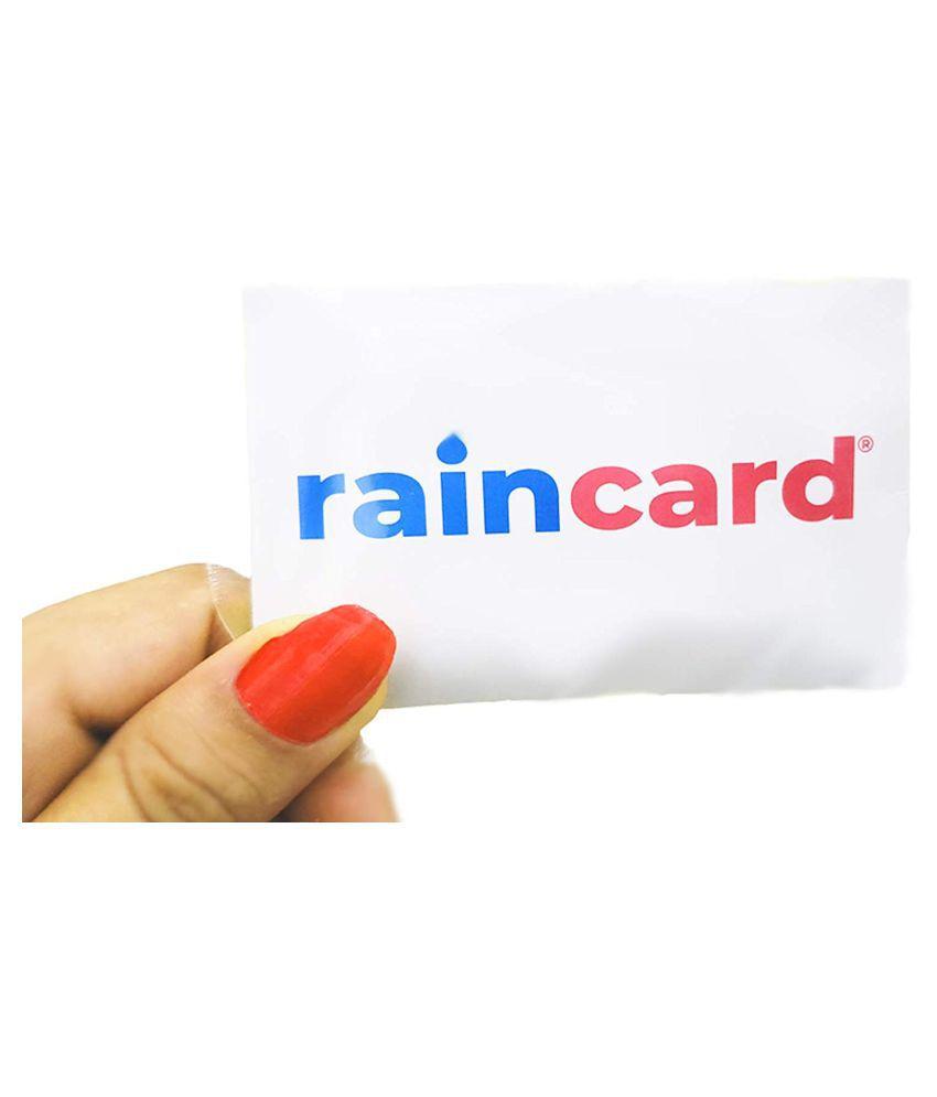 Pocket Sized Rain Card Rain Coat