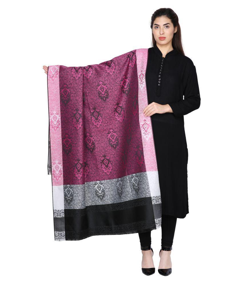 Aarzoo Pink Kashmiri Shawl