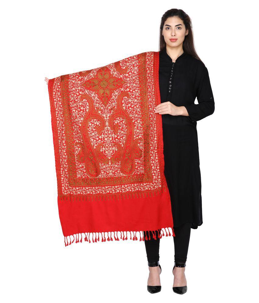 Aarzoo Red Kashmiri Shawl